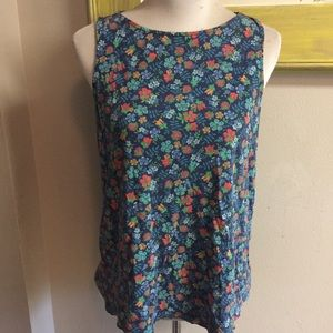 Liberty of London uniqlo tank top floral Sz medium